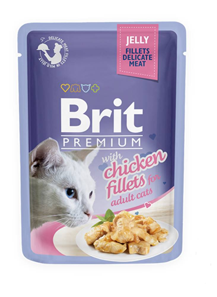 Brit Brit Premium Cat D Fillets in Jelly with Chicken 85g