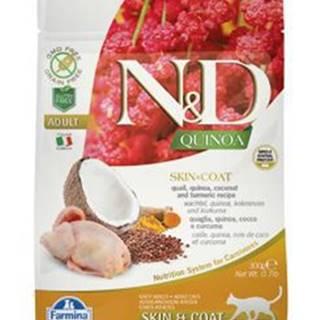 N&D GF Quinoa CAT Skin&Coat Quail & Coconut 300g