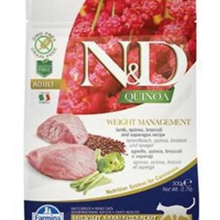 N&D GF Quinoa CAT Weight Mngmnt Lamb & Broccoli 300g