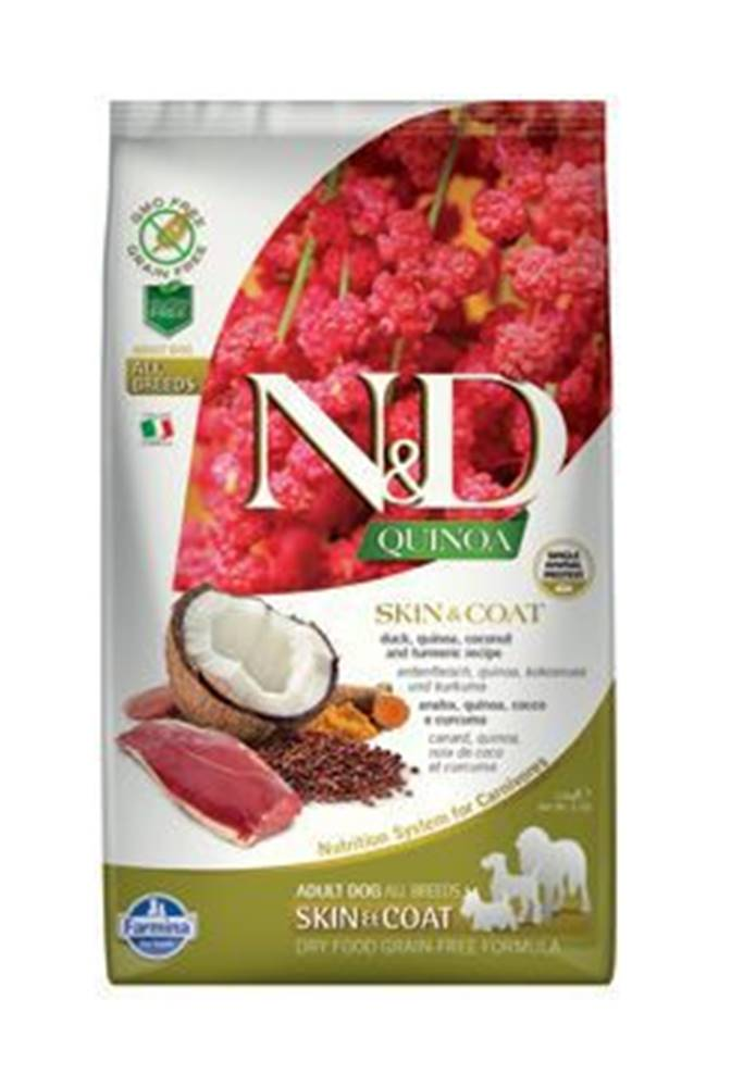 N&D N&D GF Quinoa DOG Skin&Coat Duck & Coconut 2,5kg