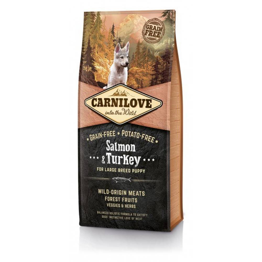 Carnilove Carnilove Dog Salmon & Turkey for LB Puppies 1,5kg