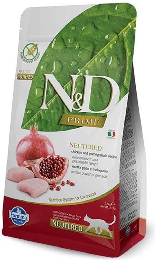 N&D (Farmina Pet Foods) N&D PRIME CAT Neutered Chicken & Pomegranate 300g