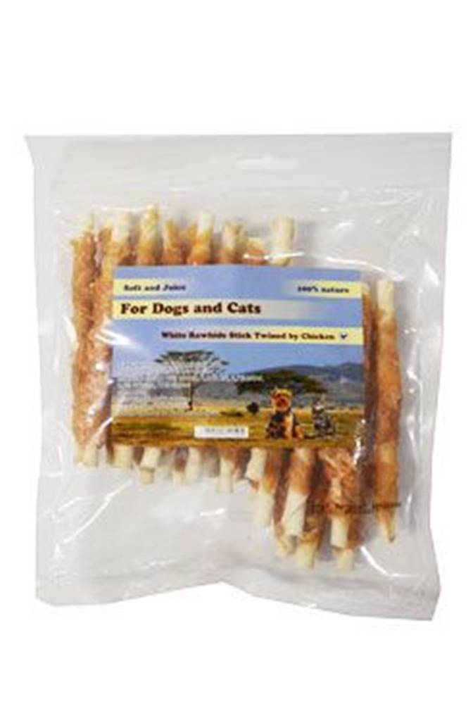 For Dogs and Cats Pochoutka Tyčinka z buvolí kůže s kuřecím masem 250g