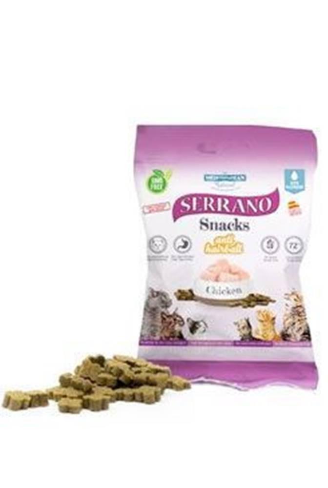 Ostatní Serrano Snack for Cat-Chicken-AntiHairball 50g