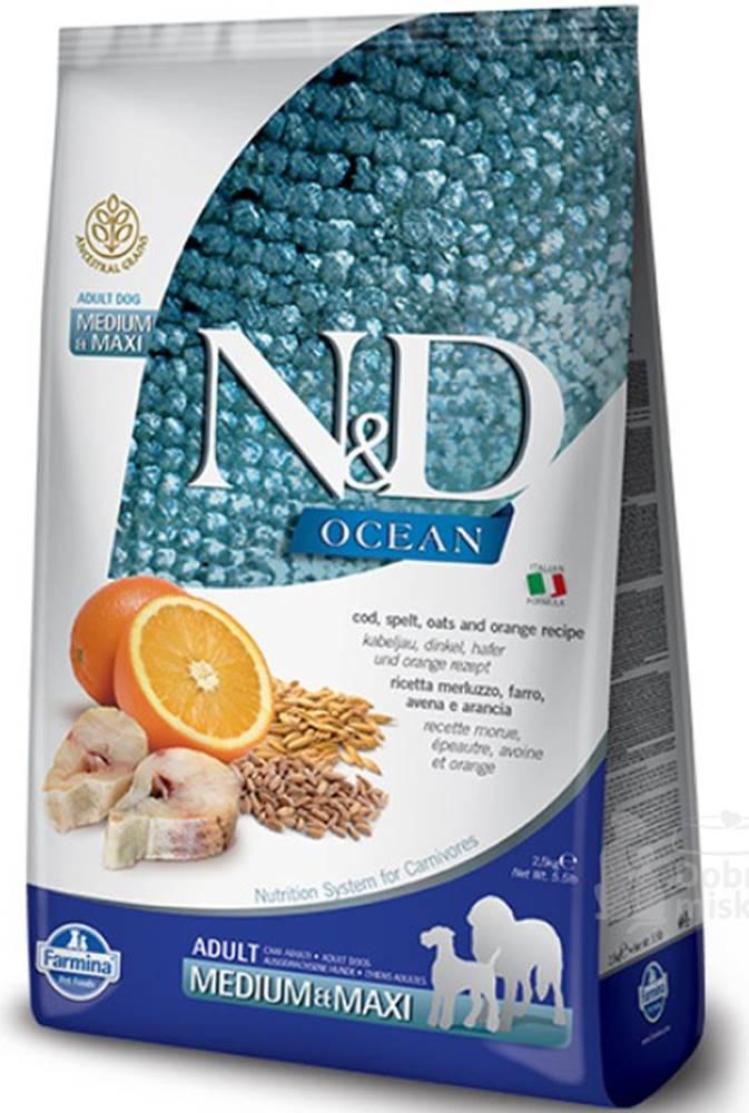 N&D (Farmina Pet Foods) N&D OCEAN DOG LG Adult M/L Codfish & Orange 12kg