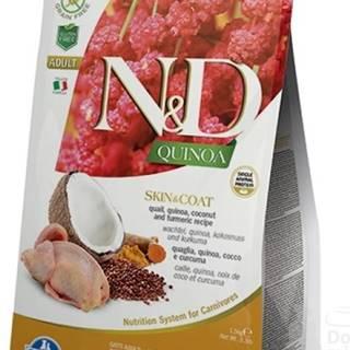 N&D GF Quinoa CAT Skin&Coat Quail & Coconut 5kg