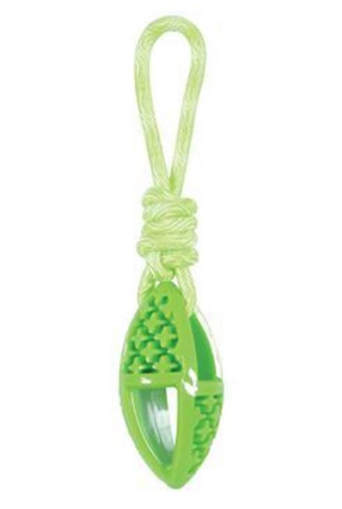 Zolux Hračka pes TPR SAMBA ovál s lanom zelená Zolux