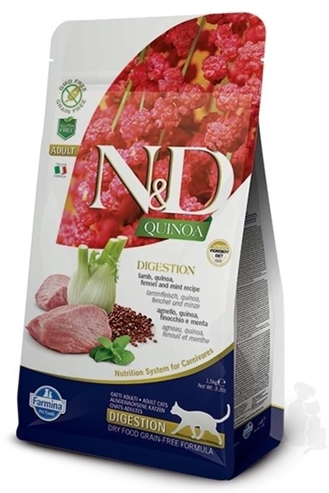 N&D (Farmina Pet Foods) N&D GF Quinoa CAT Digestion Lamb & Fennel 5kg
