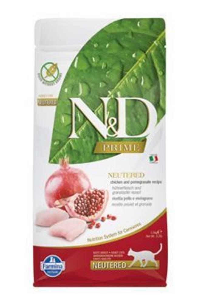 N&D (Farmina Pet Foods) N&D PRIME CAT Neutered Chicken&Pomegranate 10kg
