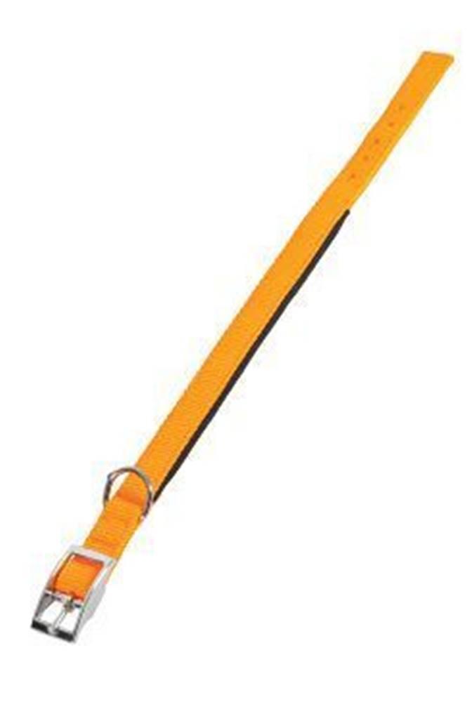 Zolux Obojok pes SOFT NYLON oranžový 25mm / 65cm Zolux