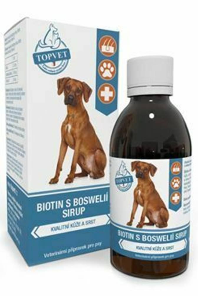 TOPVET Biotín s Boswelia sirup pre psov TOPVET 200ml