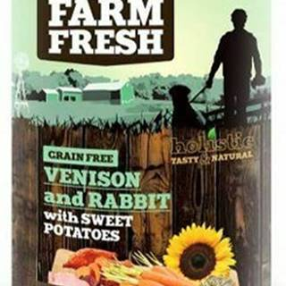 Farm Fresh Dog Venision&Rabit+Sweet Potatoes konz 400g