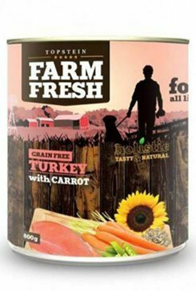 Farm Fresh Farm Fresh Dog Turkey with Carrot konzerva 800g