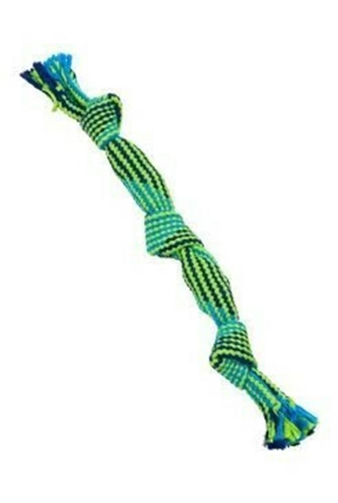 Kruuse Jorgen A/S Hračka pes BUSTER Pískací lano, modrá / zelená, 35cm, M