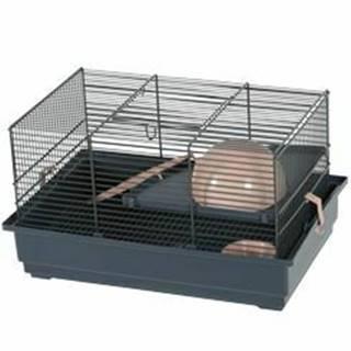 Klietka myš INDOOR 2 40cm losos / sivá s výbavou Zolux