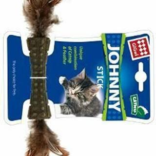 Hračka mačka GiGwi Johnny Stick Catnip s pierkami